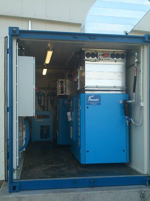 Kontenerowe stacje sprężarek / kompresorów powietrza